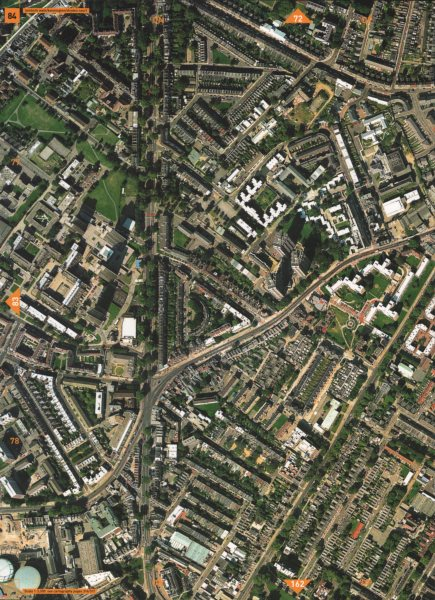 LAMBETH SE11. Lambeth Walk Kennington Dryden Court Elephant & Castle 2000 map