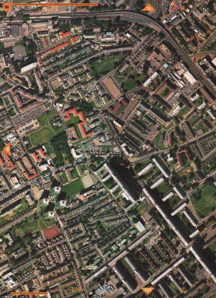 Associate Product WALWORTH SE17. Newington Faraday Gardens Surrey Square Park Old Kent Rd 2000 map