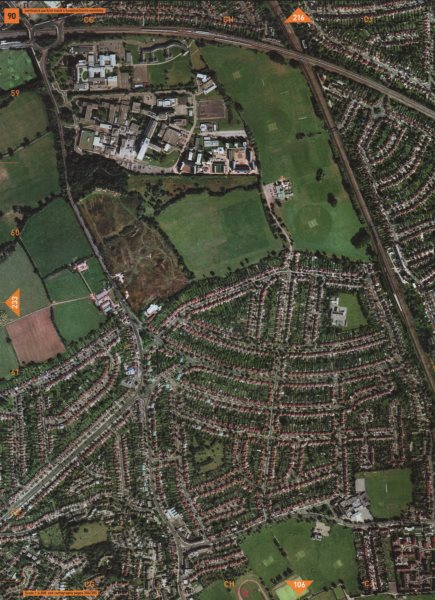 Associate Product NORTH WEMBLEY HA1 HA9 HA0. Northwick Park South Kenton Harrow School 2000 map