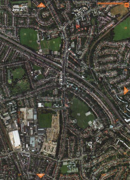 Associate Product WEMBLEY PARK HA9 HA3.Preston Rd N Wembley Park Forty Farm Sports Ground 2000 map