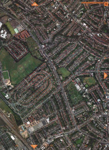 Associate Product CRICKLEWOOD NW11 NW2. Brent Cross Golders Green Clitterhouse Fields 2000 map