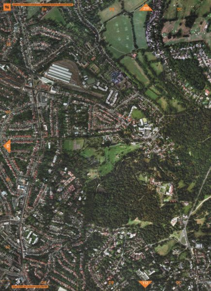 Associate Product CHILDS HILL NW11 NW2 NW3.Golders Green Hampstead Heath West/Sandy Heath 2000 map