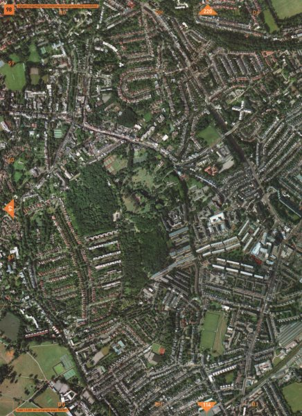 Associate Product HIGHGATE N6 N19 NW5. Cemetery Waterlow Park Archway Dartmouth Park 2000 map