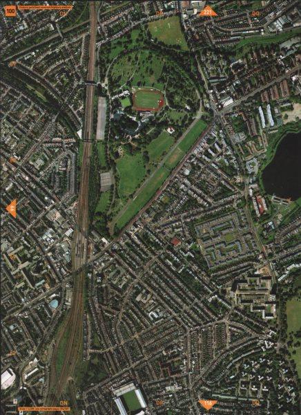 Associate Product FINSBURY PARK N4 N5.West Reservoir Highbury Stadium Manor House Arsenal 2000 map