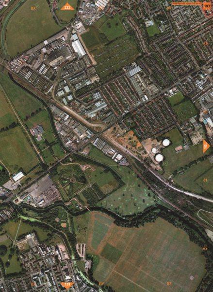 Associate Product LEYTON E5 E17 E10. Lee Lea Bridge Hackney Marsh Walthamstow Marshes 2000 map