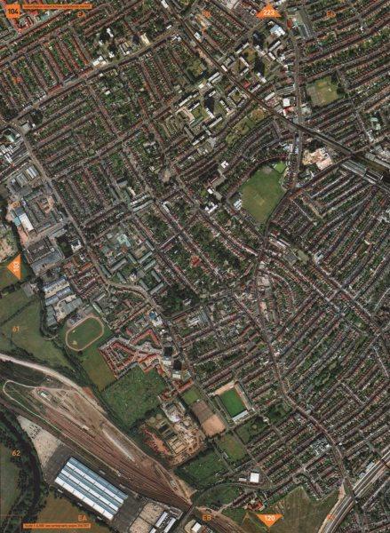 Associate Product LEYTON E10. Leyton Orient FC New Spitalfields Market Temple Mills Depot 2000 map
