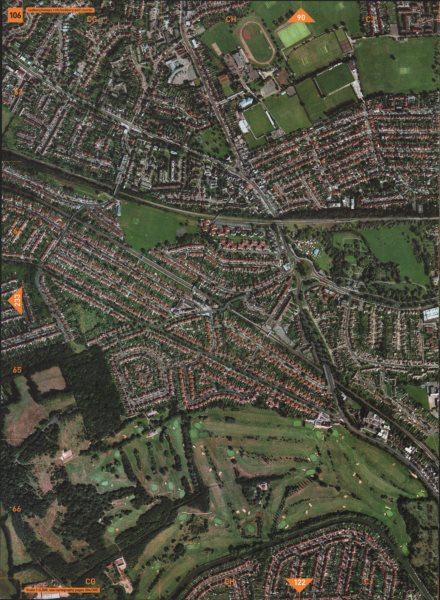Associate Product SUDBURY TOWN HA0 UB6. Wasps RUFC Golf Course Horsenden Hill Perivale 2000 map