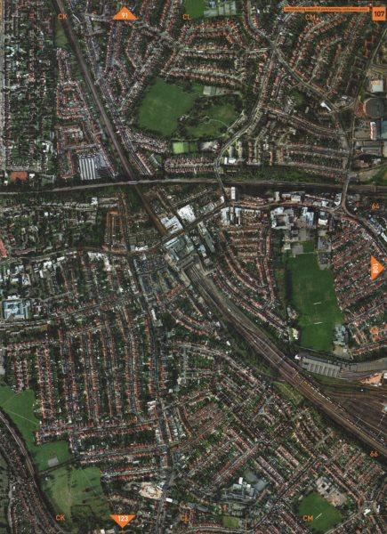 Associate Product WEMBLEY CENTRAL HA0 HA9. King Edward VII Park Wembley Conference Centre 2000 map