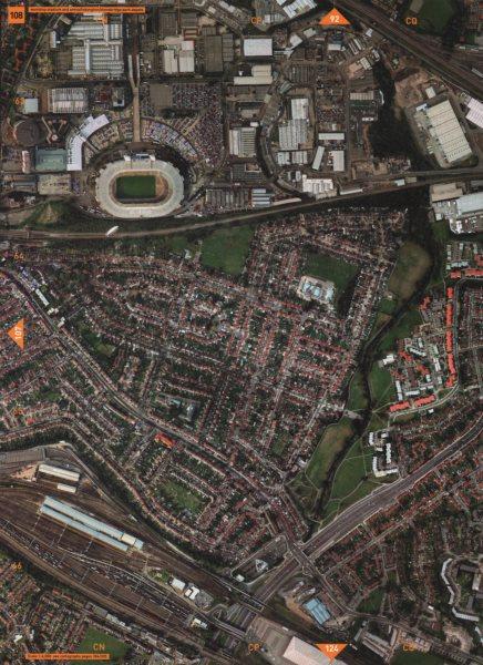 Associate Product WEMBLEY STADIUM AND ARENA HA9 NW10. Tokyngton Stonebridge Park Depots 2000 map