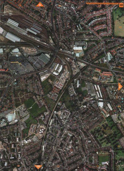 Associate Product WILLESDEN NW10. London Underground Depot Neasden Church End Cemetery 2000 map