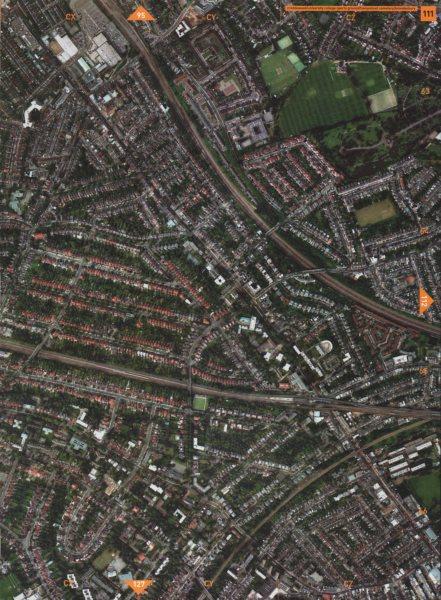 Associate Product WILLESDEN GREEN NW2 NW6.Cricklewood Hampstead Cmtry Brondesbury Kilburn 2000 map