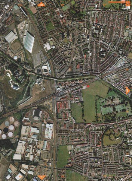Associate Product PLAISTOW E15 E16 E13. West Ham East London Cemetery 2000 old vintage map chart