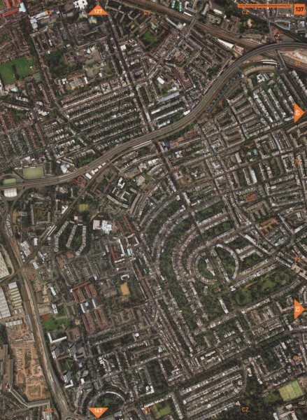 Associate Product NOTTING HILL W11 W10 W12. N Kensington Westway Holland Park 2000 old map