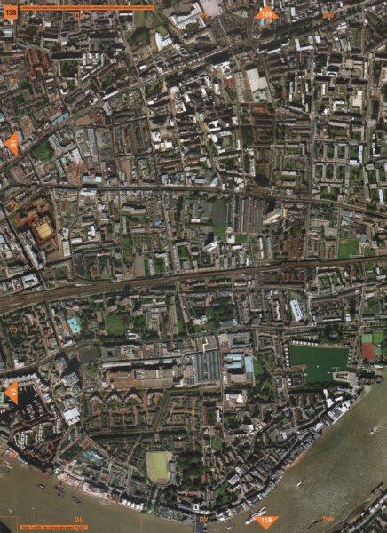 Associate Product WHITECHAPEL E1. Royal London Hospital Wapping Tobacco Dock Shadwell 2000 map