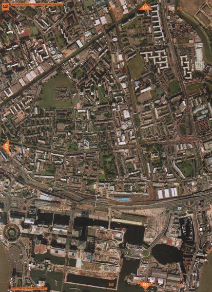 Associate Product CANARY WHARF E14 E3. Bromley Poplar West India Docks Canary Wharf 2000 old map