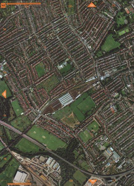 Associate Product LITTLE EALING TW8 W5 W13 W7. Hanwell Lammas Park London Playing Fields 2000 map