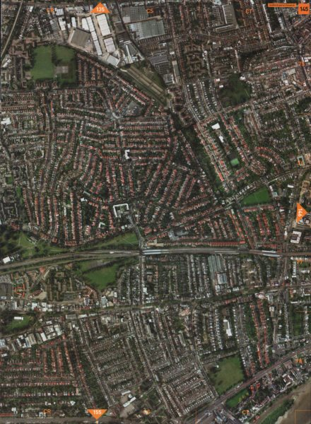 Associate Product BEDFORD PARK W4 W12 W6 W3. Chiswick Stamford Brook Turnham Green 2000 old map