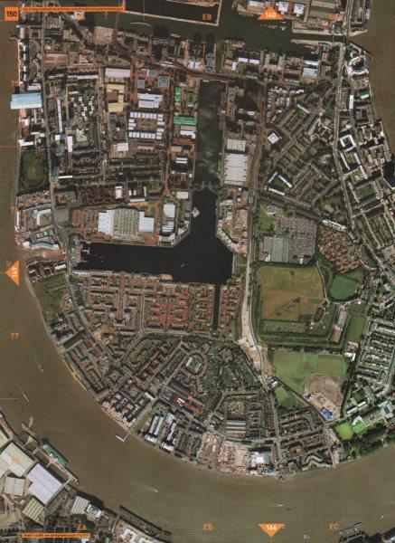 Associate Product ISLE OF DOGS E14 SE8. Millwall Dock Mudchute South Quay Island Gardens 2000 map