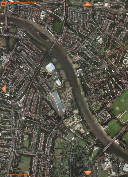 Associate Product KEW W4 TW9. National Archives North Sheen Chiswick Bridge Grove Park 2000 map