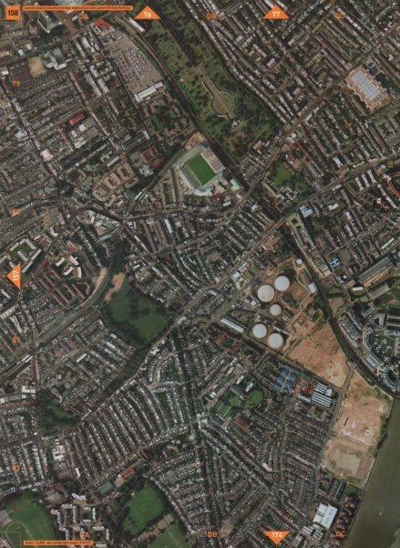 Associate Product FULHAM BROADWAY SW6 SW10. West Brompton Stamford Bridge Parsons Green 2000 map