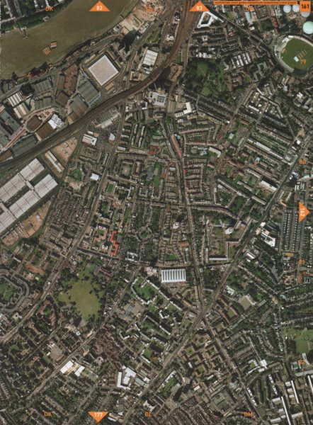 Associate Product SOUTH LAMBETH SW8 SE11 SW9 SW4. Vauxhall N Covent Garden Oval Stockwell 2000 map