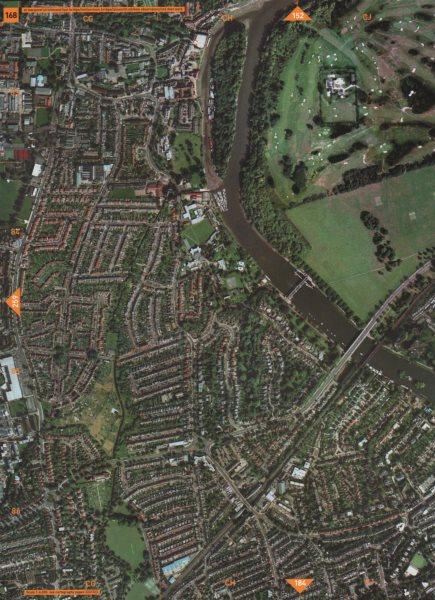 Associate Product ST MARGARET'S TW7 TW1 TW9. Richmond/Twickenham Brdg Isleworth Deer Park 2000 map