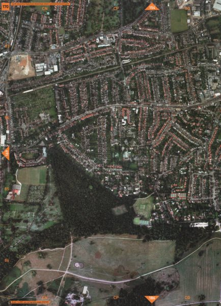 Associate Product NORTH SHEEN TW9 TW10 SW14. Mortlake East Sheen Common Richmond Park 2000 map