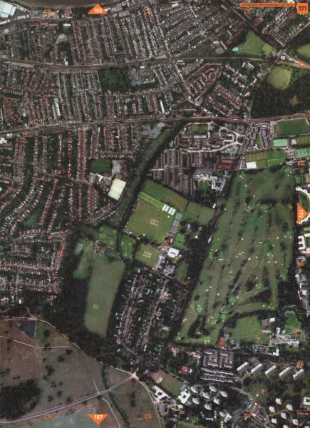 Associate Product MORTLAKE SW14 SW13 SW15.East Sheen Roehampton Golf Course Richmond Park 2000 map