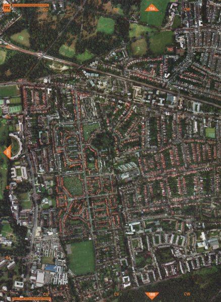 ROEHAMPTON SW15 SW13. Barnes Common Putney Heath 2000 old vintage map chart