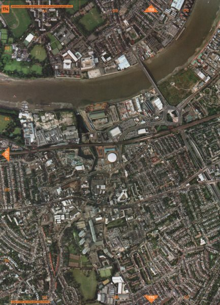 Associate Product WANDSWORTH SW6 SW18. Wandsworth Bridge King George's & Hurlingham Parks 2000 map