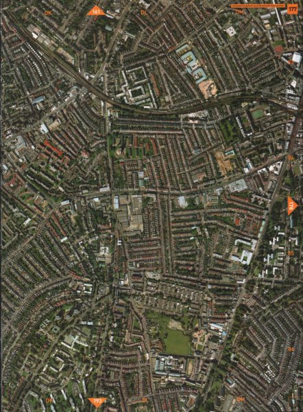 Associate Product BRIXTON SW4 SW2 SW9. Stockwell Clapham Park Brixton Prison 2000 old map