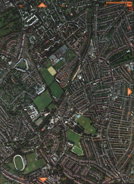 Associate Product EAST DULWICH SE24 SE5 SE15 SE22. Camberwell Denmark Hill Herne Hill 2000 map