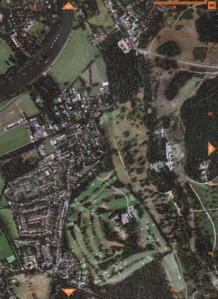 Associate Product PETERSHAM TW10 TW1. Richmond Sudbrook Park Richmond Golf Course 2000 old map