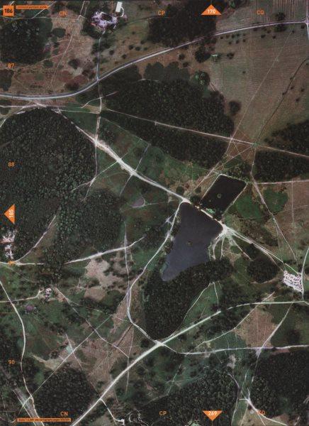 Associate Product RICHMOND PARK TW10. Pen Ponds Leg of Mutton Ponds Plantations 2000 old map