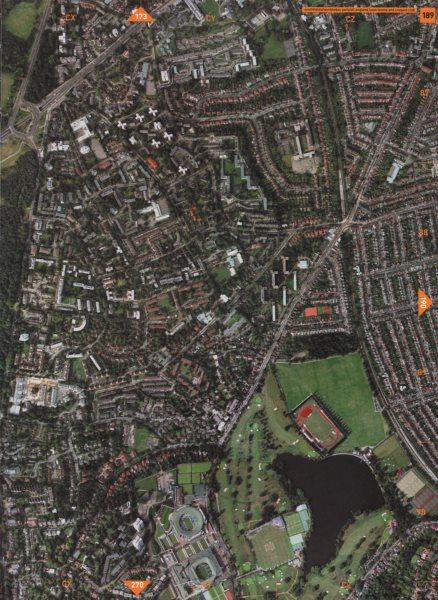 Associate Product WIMBLEDON SW19 SW18 SW15. Southfields Park All England Tennis Club 2000 map
