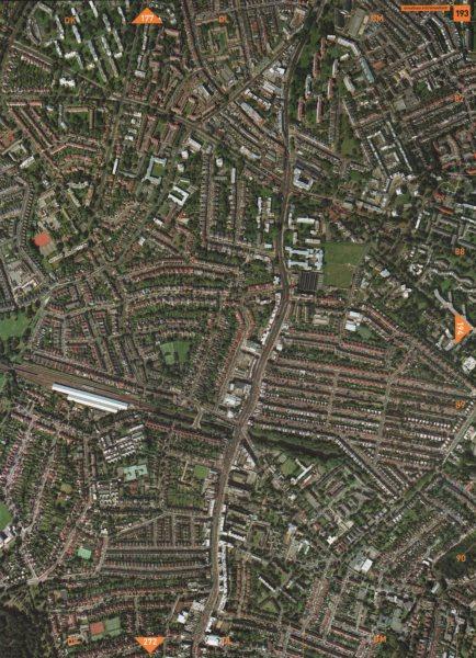 STREATHAM HILL SW2 SW16. Streatham High Road 2000 old vintage map plan chart