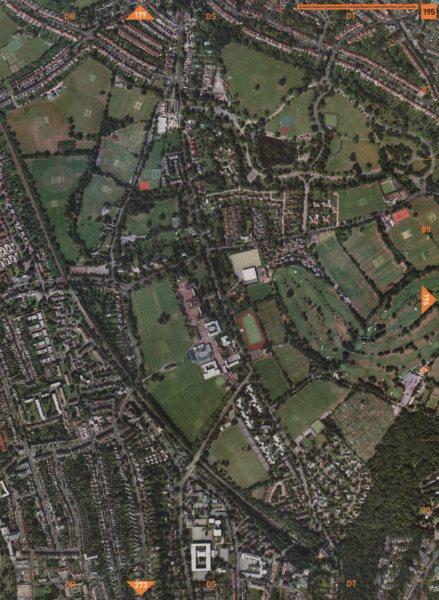 Associate Product DULWICH SE21. Dulwich Park Dulwich College D'ch & Sydenham Golf Course 2000 map