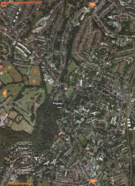 Associate Product E DULWICH SE23 SE26 SE21 SE22. Horniman Gdns. D'ch Sydenham Golf Course 2000 map
