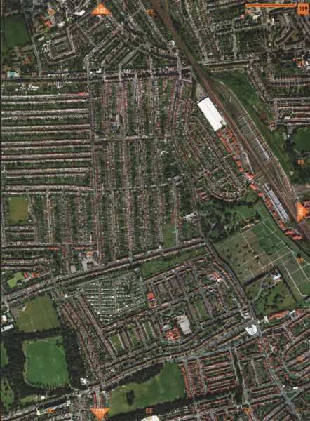 Associate Product GROVE PARK SE6 SE12 BR1. Catford Hither Green Cemetery 2000 old vintage map