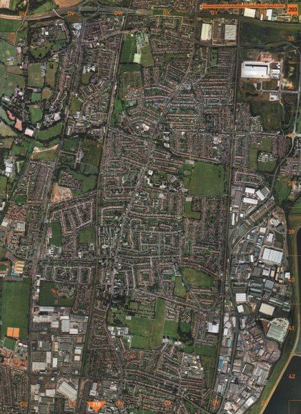 Associate Product BRIMSDOWN. Bullsmoor Albany Park Enfield Durants Industrial Estate 2000 map