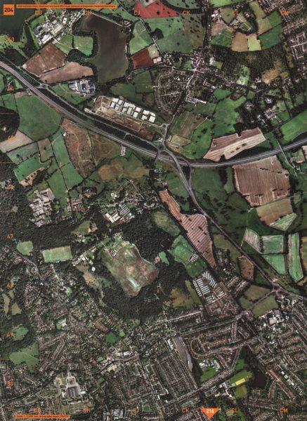 Associate Product STANMORE. Elstree Aldenham Reservoir National Orthopaedic Hospital M1 2000 map