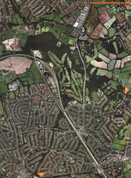 Associate Product EDGWARE NW7. Mill Hill Golf Course Scratchwood Services M1 Edgware 2000 map