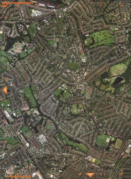 SOUTHGATE N14 N11 N13 N21. Oakwood Winchmore Hill 2000 old vintage map chart