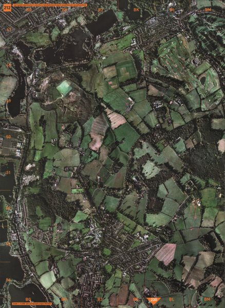 Associate Product HAREFIELD. Springwell Lake Stocker's Bury Batchworth Park Wood Bishop's 2000 map