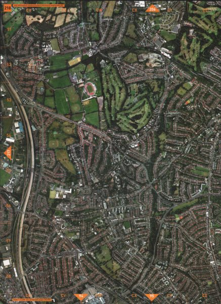 Associate Product HENDON NW7 NW4 N3 NW11 N12. Mill Hill Holders Hill Church End M1 2000 map
