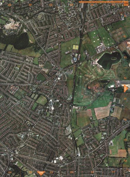 Associate Product FULWELL CROSS.Redbridge Barkingside Aldborough Hatch Gants Hill Fairlop 2000 map