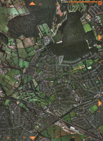 Associate Product RUISLIP. Copse Wood Mad Bess Wood Park Wood Ruislip Common Ickenham 2000 map