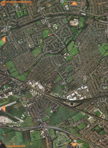 Associate Product RAYNER'S LANE. Ruislip Manor South Ruislip Northolt Aerodrome 2000 old map