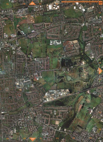 Associate Product DAGENHAM. Rush Green Beacontree Heath Eastbrookend Country Park 2000 old map
