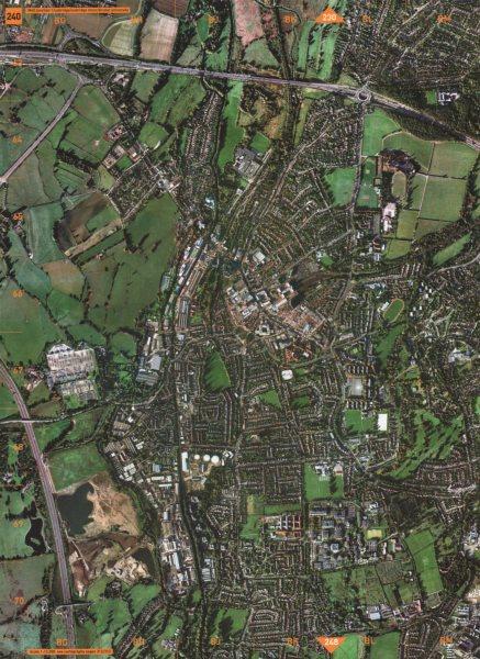 Associate Product UXBRIDGE. M40 Junction 1 Uxbridge Moor Brunel University 2000 old vintage map